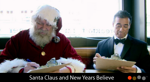Santa Clause & New Years Believe